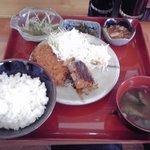 めし処 いちぜん - 料理写真:メンチカツ定食  600円