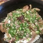 魚佐 - 絶品!鯵のたたき丼。