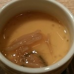 築地玉寿司 - セットのフカヒレ入り茶わん蒸し
