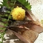 築地玉寿司 - 炙りしめ鯖(760円)