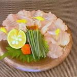 旬魚菜 正や - 造里:天然本クエ
