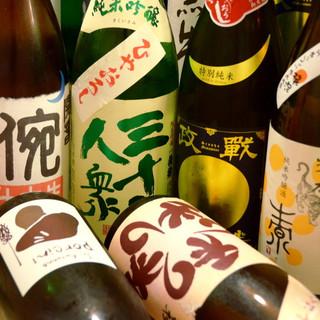 日本酒は常に15種類以上。来る度に出逢える愉しさあり。