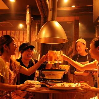 今宵は岩勝で乾杯♪会社宴会、肉女子会などに最適の空間!