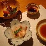 二戀 - お造り 壱岐の鮪 平目 カワハギ肝
