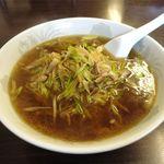 華龍 白石亭 - 料理写真:葱油湯麺(醤油拉麺、780円)