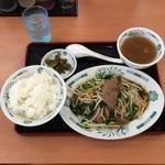 日高屋 - ニラレバ炒め定食650円