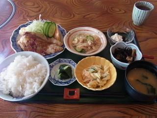 一文字 - 2014.9)豚ロース生姜焼き定食(950円)