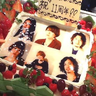 お好きな写真がケーキになります!