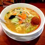 幸楽苑 - 辛子肉味噌入り味噌野菜ラーメン