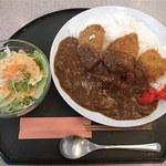 味喰藩 - ポークカツカレー・ご飯ちょい増し(月曜だったのでサラダは無料です)