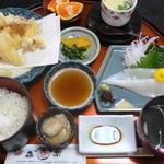 きらく - 朝とれイカ膳 2100円