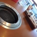 エイジング・ビーフ - 窓側席のテーブル上