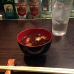 鉄板焼 ろじ - 〆の味噌汁