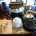 有隣倶楽部 - <旬の膳>松茸釜めしと土瓶蒸し 2160円