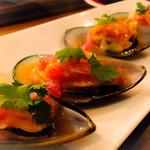 31087414 - Choros a la chalaca  ムール貝のレモンと野菜のマリネ