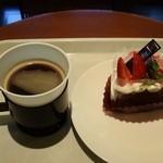 ランプリール・オクシジェーヌ - 珈琲と今日だけのお菓子セット700円