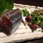 蕎麦人弁慶 - サンマの刺身