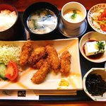 日本料理 田代 - 料理写真:日本料理 田代  @佐野 かきフライ定食 Sコース 1,050円