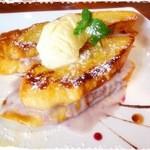 Cafe de Manma - マスカルポーネフィリングのフレンチトースト