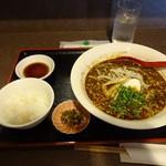 伎山 - 黒ゴマ担々麺セット:900円