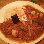 辛口伽麗レテテ - キーマ、野菜プラス