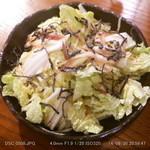 神鶏 - 白菜のサラダ あっさりシャキシャキでした