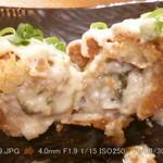 神鶏 - 牡蠣フライ(断面)