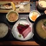 海鮮鮨市場 魚がし - 日替わり定食(980)