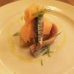 31126563 - 秋刀魚と焼茄子のマリネトマトムース☆