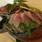 魚鮮水産 福島駅前通り店 - 秋刀魚刺身(580円)