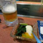 ゆ乃字 - 生ビールとお通し