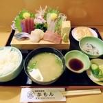 酒味処かもん - 刺身定食1700円位(夜メニューから)。