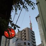 ファンゴー バンガロイド - テラスから見た東京タワー