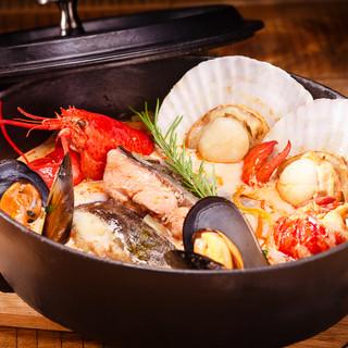 ビールにぴったりの魚介料理と契約農家からのお野菜に自信あり!
