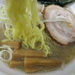 嘉門 - 塩ラーメンの麺