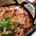ぶっかけふるいち - 料理写真:きのこ肉ぶっかけ、えびめしおにぎり、竜田揚げ