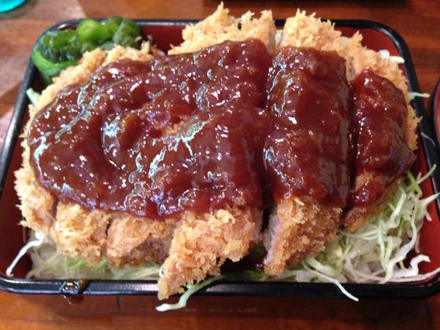 かつ進 神田鎌倉橋店 - 2014/09/26  ソースかつ重  ¥880