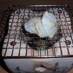 日本料理 日の出 - ふぐ身の網焼
