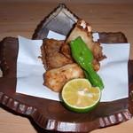 日本料理 日の出 - ふぐの唐揚げ