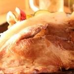 もてなし - 超特大豚ロースステーキ~わさび醤油