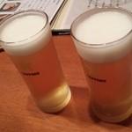 酒とそば まるき - ビール