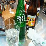 진옥화 할매 원조 닭한마리 - 七星(チルソン)サイダーとビール。