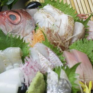 鮮魚には自信があります