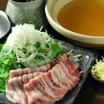 ◆宮崎豚のしょうが鍋