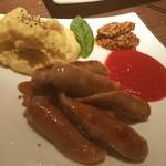 カフェ ド ガバチョ - 別注ミヤジ豚ソーセージ