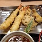 さん天 巽北店 - 天ぷら定食(特別価格390円)天ぷらアップ