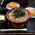 草笛 - ざるそば\660+中盛り\400+かき揚げ天ぷら\200