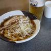 名代きしめん 住よし - 料理写真:名古屋コーチンきしめん&スーパードライ~☆
