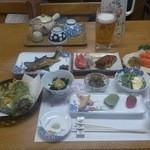 雄川閣 - 夕食の全景