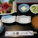 うなぎ 錦水 - 刺身定食